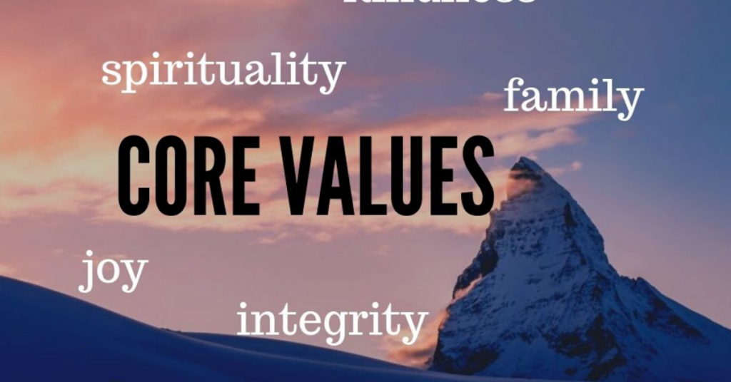 Living by your core values?